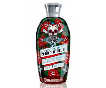 SUPER TAN Sinner Tatoo Fade Protecting Accelerator Крем-ускоритель загара, 200 мл