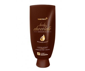 TANNYMAXX Body Chocolate молочко-ускоритель для загара с натур бронз и гранулами масла какао 200 мл
