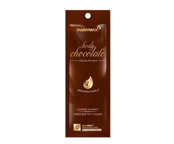 TANNYMAXX Body Chocolate молочко-ускоритель для загара с натур бронз и гранулами масла какао 15 мл